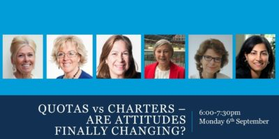 Quotas vs Charters - Are Attitudes Finally Changing?